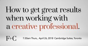 Working with creative professionals